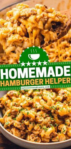Homemade Hamburger Helper, Hamburger Recipes, Recipes With Ground Beef, Pumpkin Quiche, Perfect Pumpkin Seeds, Food Dishes, Main Dishes, Ground Venison, Goulash Recipes