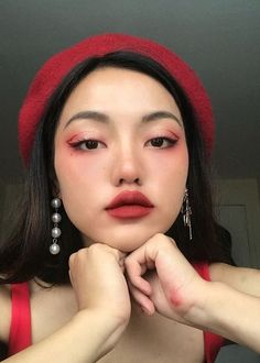 CloudyBabyy - My most beautiful makeup list Makeup List, Makeup Goals, Makeup Inspo, Makeup Inspiration, Red Makeup, Cute Makeup, Pretty Makeup, Hair Makeup, Beauty Make-up