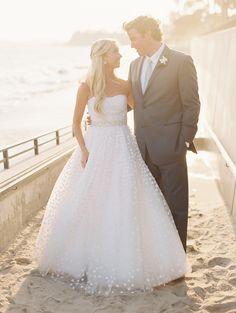 #WeddingGown | See the wedding on SMP: http://www.stylemepretty.com/2013/12/18/santa-barbara-seaside-wedding/  Lane Dittoe Fine Art Wedding Photographs