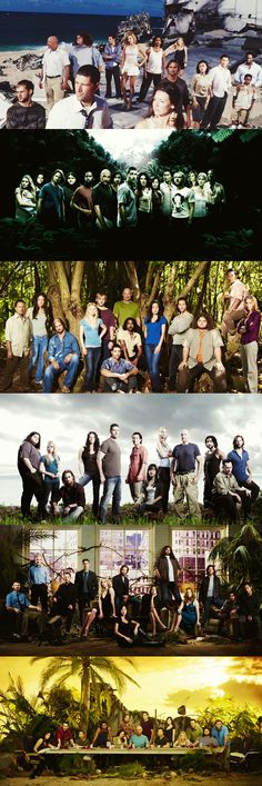 LOST promotional photos seasons 1-6