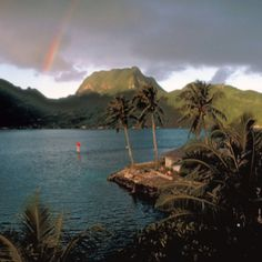 This looks like the point where the GM of the petroleum company resides - Utulei, American Samoa