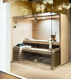 Coolest And Cozy Home Sauna Design Ideas 14 Room, Small Space Interior Design, Home, Cozy House, New Homes, Bars For Home, Sauna Design, Small Rooms, Trendy Home