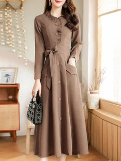 Women's A Line Dresses, Indian Gowns Dresses, Modest Dresses, Stylish Dresses, Elegant Dresses, Casual Dresses For Women, Clothes For Women, Sleeve Dresses, Modest Fashion