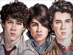 Jonas Brothers by Amelia-Beth on deviantART ~ watercolor pencils & prismacolors