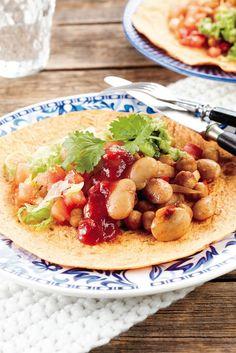 Kasvis-paputortillat | Meksiko | Pirkka #food #vegetarian
