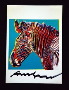 Andy Warhol Zebra Signed Bookplate