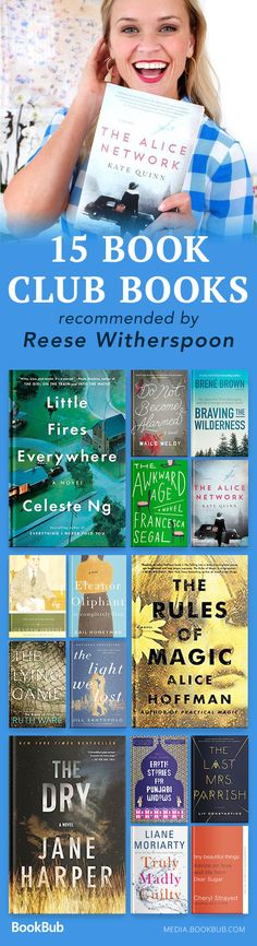 This Reese Witherspoon reading list from 2017 and 2018 is perfect for book clubs — featuring bestselling authors like Ruth Ware, Alice Hoffman, and Cheryl Strayed.