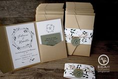 Pocket Invitation, Pocket Wedding Invitations, Handmade Wedding Invitations, Euro, Wedding List, Stationery Design, Rustic Wedding, Place Card Holders, Gift Wrapping