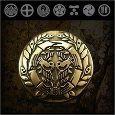 WILD HEARTS   Rakuten Global Market: Family Crests of Japan Samurai Family Crests Coat of Arms Brass Concho WILD HEARTS Leather & Silver Item ID cc2516