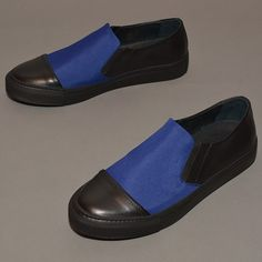 Silent by Damir Doma Mens Classic Slip-on Shoes SUN Bk/Blue [2014SS]