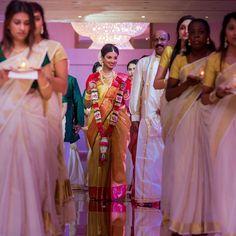 Bride Entry, Kerala Bride, Tamil Brides, Civil Ceremony, Wedding Decorations, Sari, Facebook, Couples, Amazing