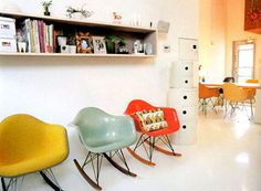 REALLY want one of these Eames rockers...preferably pale green or yellow...