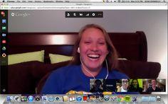Director Meeting screenshot over Google Hangout!