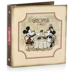 Disney Mickey Mouse Recipe Book Organizer Gift Set