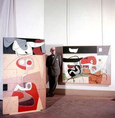 willy rizzo… le corbusier at musée national d'art moderne, paris, exposition, 1953 Le Corbusier, Rare Images, Rare Photos, Paris Atelier, Maurice Utrillo, Rue De Sevres, Alvar Aalto, Art Moderne, Color Photography