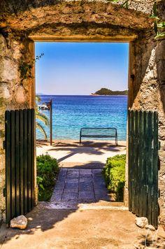 Lopud Island near Dubrovnik, Croatia.: