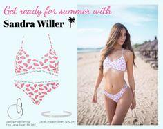 Summer ready #Sandrawiller #fashion #bikini #watermelon #outfit #Inspiration #jewellery #jewelry #shopping #inspiration #beach #summer #johanneappel #Pink #blue #blogbysandra #hvisk #hviskstylist #hviskjewellery