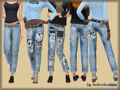 Sims 4 CC's - The Best: Jeans Spades by Bukovka