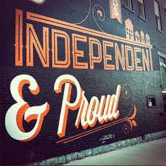 inspiredmark:  Typography: Independent & Proud (grab these typefaces from @losttypecoop )
