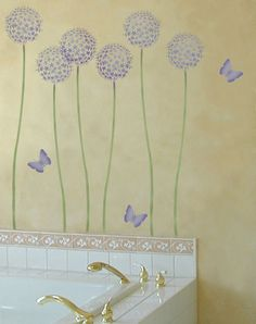 Paint That Looks Like Wallpaper tiny details on painted furniture - cute border stencils for