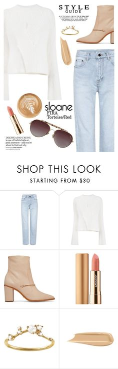 """""""Sloane eyewear"""" by yexyka ❤ liked on Polyvore featuring Yves Saint Laurent, Schutz, Axiology and WWAKE"""