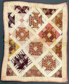 Child's Doll Quilt -Hole in The Barn Door-. 1880's.