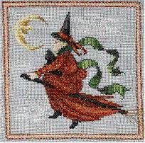 Midnight Ride Halloween Cross Stitch Pattern - pdf