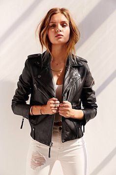 the perfect leather moto jacket