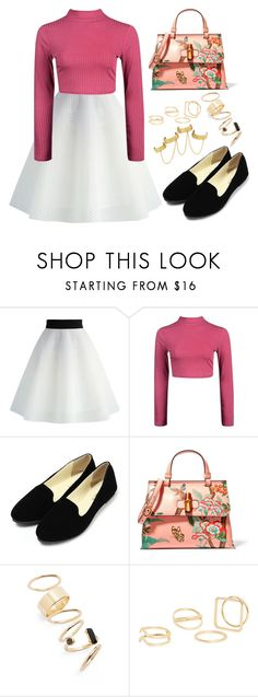 """""""Lollipop"""" by staysaneinsideinsanity ❤ liked on Polyvore featuring Chicwish, Boohoo, Gucci, BP., MANGO and House of Harlow 1960"""