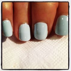 Essie. Borrowed and Blue or Mint Candy Apple