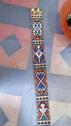 Bead Embroidery Jewelry, Beaded Embroidery, Bead Crochet Rope, Borneo, Friendship Bracelets, Loom, Costumes, Beads, Pattern