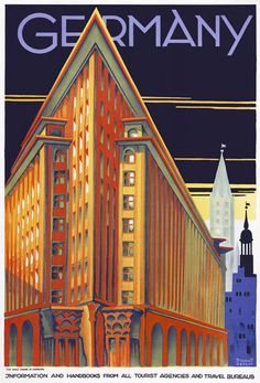 TT63 Vintage Hamburg Germany German Travel Poster Re-Print A4
