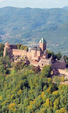 Haut-Kœnigsbourg Castle, Alsace. #Alsace #visitAlsace #HautKoenigsbourg #BasRhin