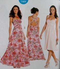 2St: Abendkleid+Sommerkleid Schnittmuster 7408