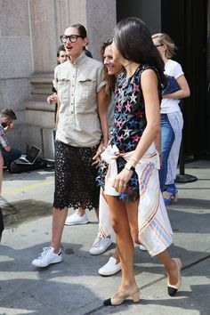Jenna Lyons Photos - Seen Around Spring 2016 New York Fashion Week: The Shows - Day 4 - Zimbio