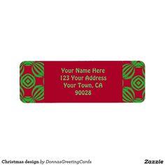 Christmas design return address label