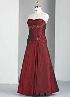 Taffeta Sweetheart Delicately Ruffled Bodice Long Prom Dress