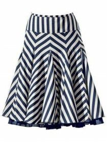 I love the way that the stripes turn into chevron on this skirt