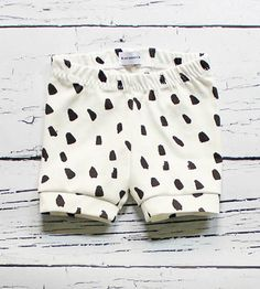 Dalmatian Spot Baby Shorts by Binky Monster on Scoutmob