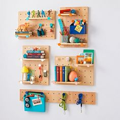 Our Pegboard Wall Shelves can be hung vertically or horizontally, and mix and match shelves with pegs to create your own perfect set-up.