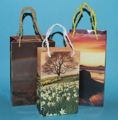 Gift Bags made from calendar pages
