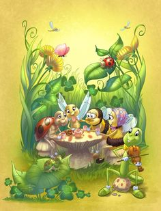 Thanks for your comments Sabine Rich Insects Galore book cover Art And Illustration, Illustration Mignonne, Art Fantaisiste, Art Mignon, Fairy Art, Disney Drawings, Whimsical Art, Cartoon Wallpaper, Beautiful Artwork