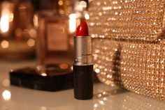 Mac Red, perfect for a sparkly clutch.
