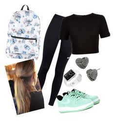 """""""Sport"""" by milanazec ❤ liked on Polyvore featuring NIKE, Ted Baker, Disney, Balmain and Betsey Johnson"""