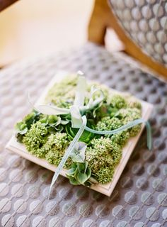 planter ring pillow in a shadowbox! photo by JenHuangPhotography.com
