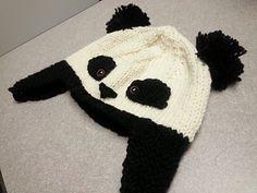 Panda hat, worsted, free