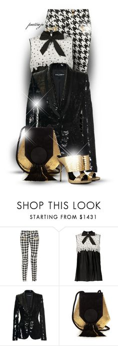 """""""....And to All a Great Night"""" by rockreborn ❤ liked on Polyvore featuring Balmain, Giambattista Valli, Dolce&Gabbana, Yves Saint Laurent and Giuseppe Zanotti"""