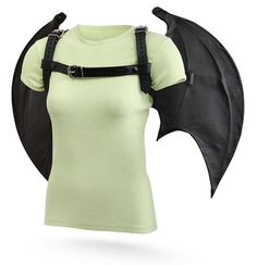 OMG, WANT!!    ThinkGeek :: Handmade Leather Wings with Harness
