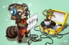 Rocky Raccoon by ArtistAbe on deviantART --> Absolutely love that this was done.