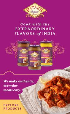 Cook with the flavors of India. Make authentic Indian meals in no time with Patak's. Tap the Pin to explore all simmer sauces, pastes and more. Crockpot Recipes Mexican, Barbecue Recipes, Top Recipes, Indian Food Recipes, Recipies, Russet Potato Recipes, Meat And Potatoes Recipes, Baked Potato Recipes, Potato Dishes